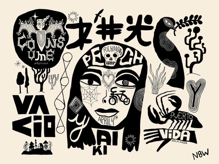 art, silkscreen, illustration - n8wn8w | ello