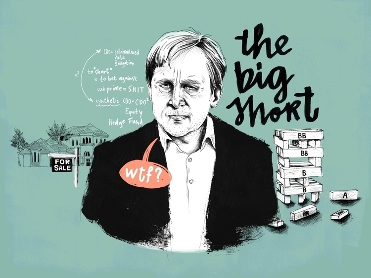 illustration Big Short, awesome - dudeitsallama | ello