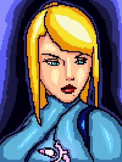 Pixel Art Suit Samus Metroid se - mistergrim23 | ello