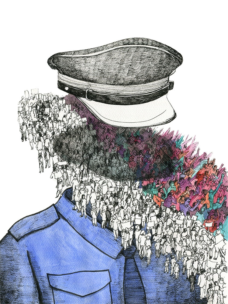 Macao Daily - illustration, crowd - ononlao   ello