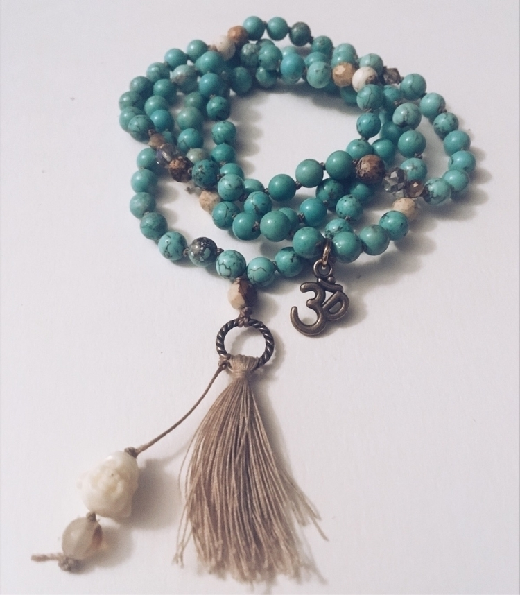 Turquoise Howlite 108 beaded ma - gypsyxjewels | ello