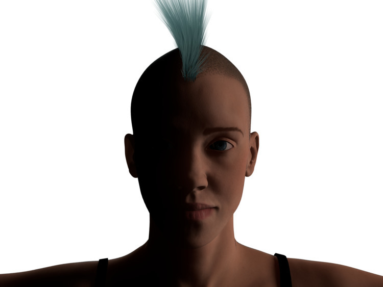 Mohawk girl - 3D, Cinema4D, 3DAnimation - 3dsk | ello