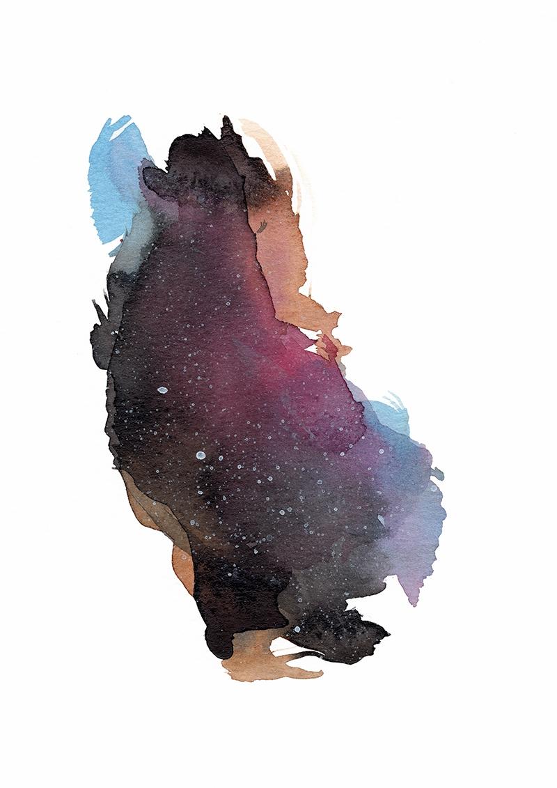 Star Stuff Acrylic painting pap - luciesalgado | ello