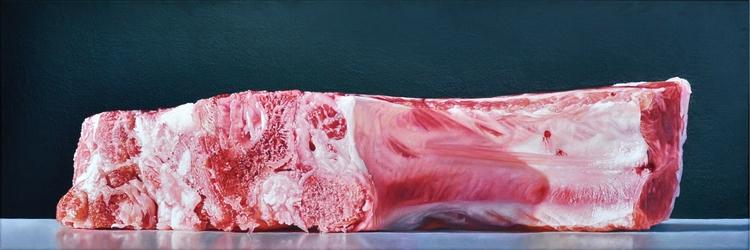 CÔTELETTE (CHOP), 2012, 30 × 90 - christopheberle | ello