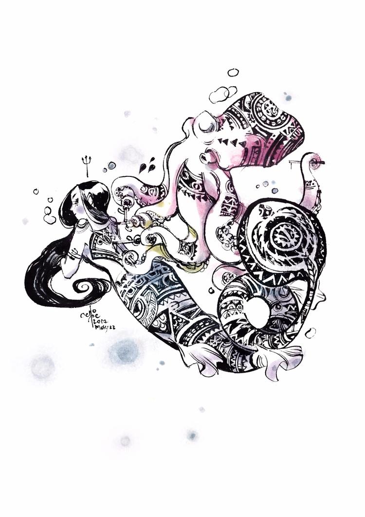 Diary - mermay2017, sketchbook, mermaid - sillyjellie | ello