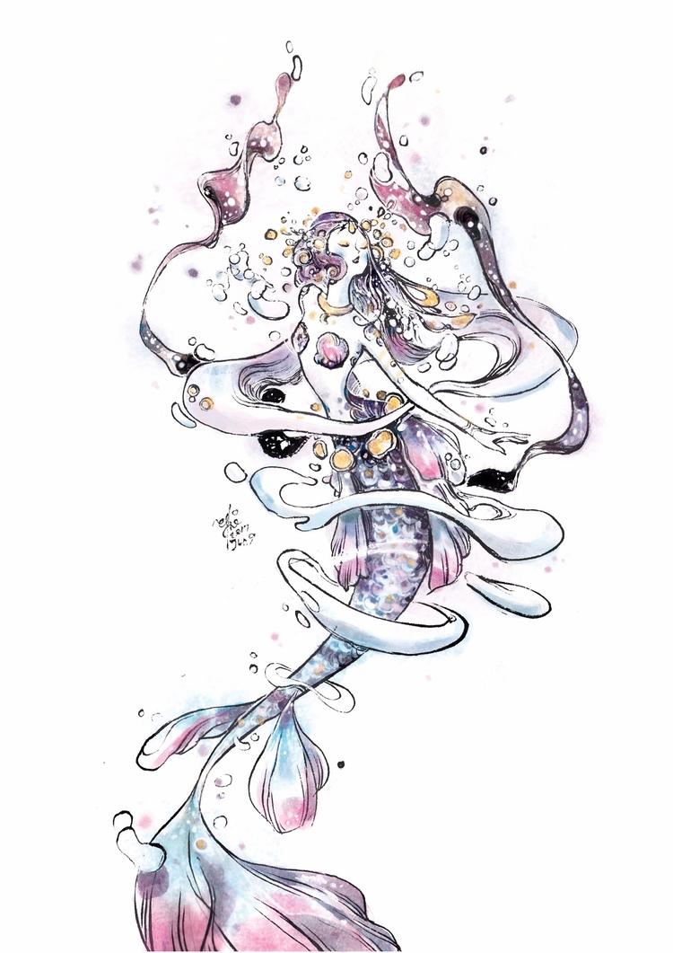 Lone waltz - mermay, mermaid, mermay2017 - sillyjellie | ello