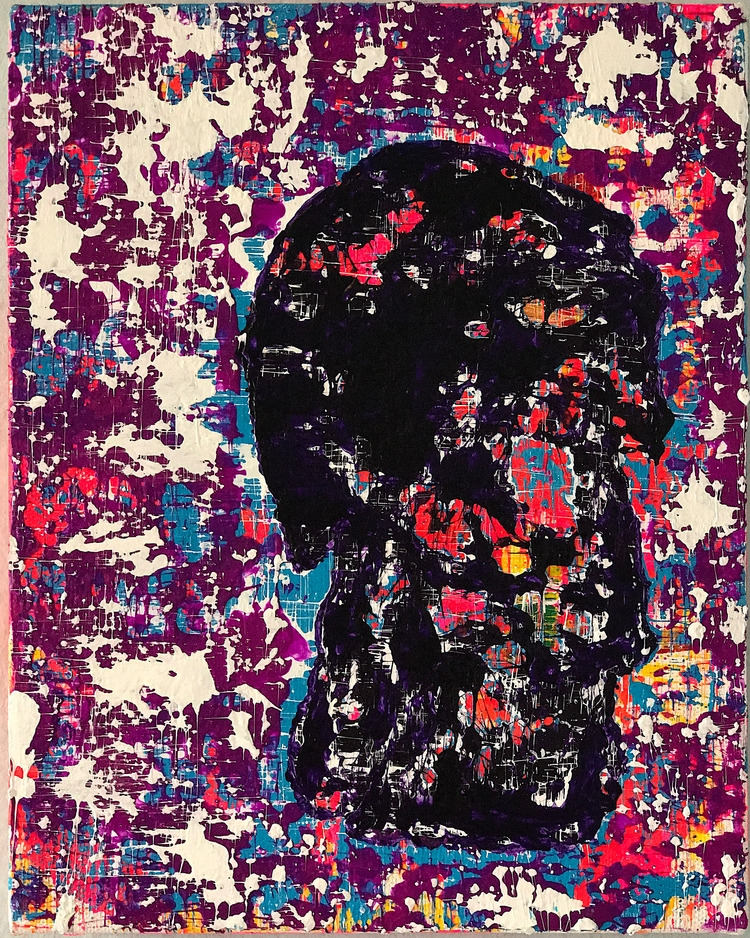 "8""x10"" acrylic canvas $175 2017 - nuisms | ello"