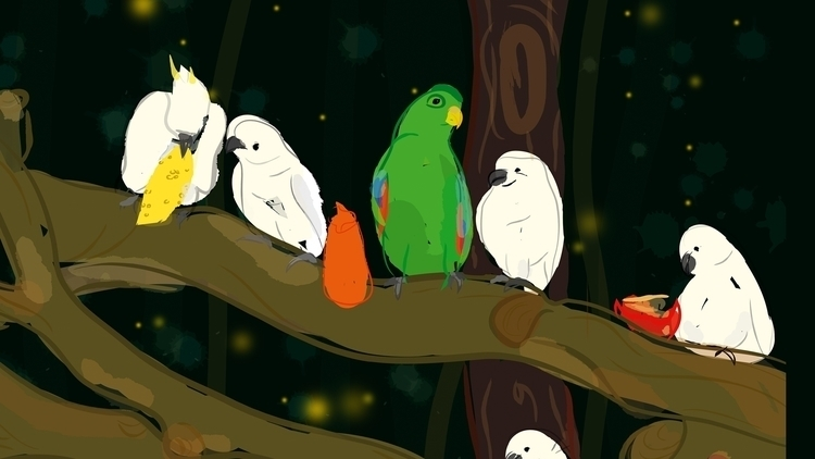 Parrot lovers - illustration, drawing - plyncheong | ello