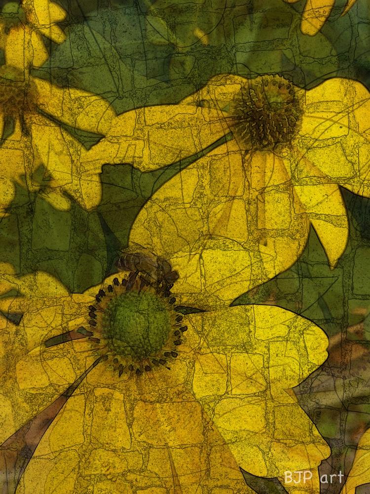 Gelbe Blüten 2  - BJP_art, Lichtspurkomposition - bringfried | ello