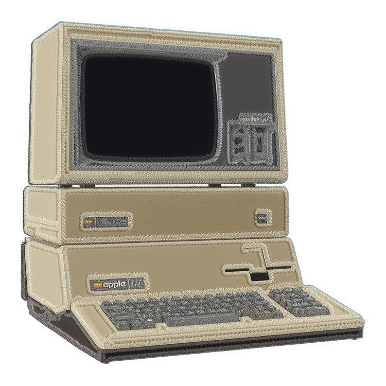apple, beige, computer, trompeloeil - adamaf | ello