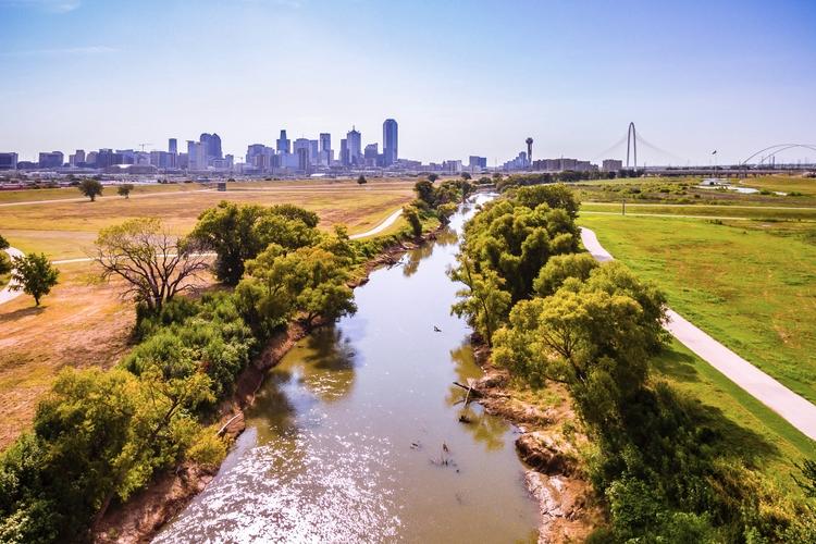 River Downtown Trinity flows Da - mattgharvey | ello