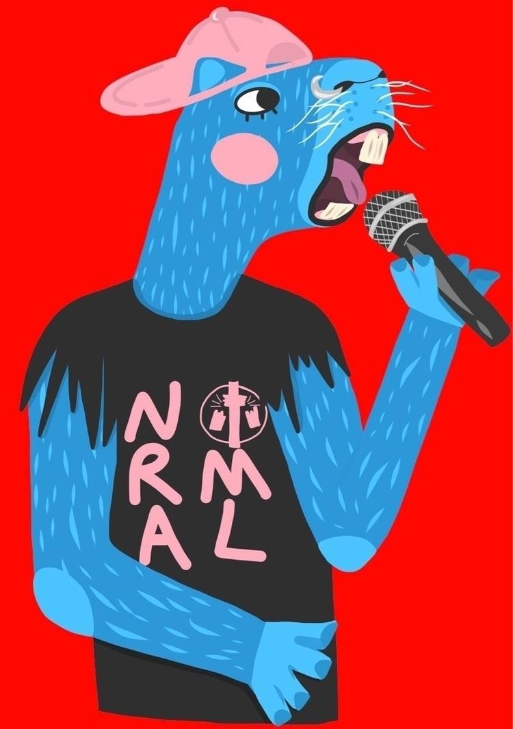 Punk capybara - punk, poppunk, folkpunk - hattiemakesthings | ello