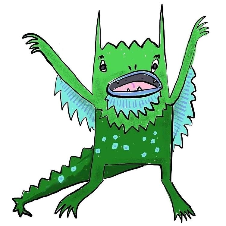 monster, illustration - reneeleigh | ello