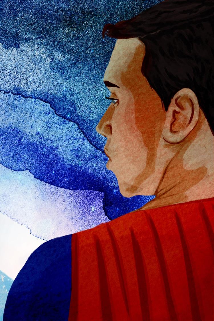 Daily drawing - superman, space - cariguevara | ello