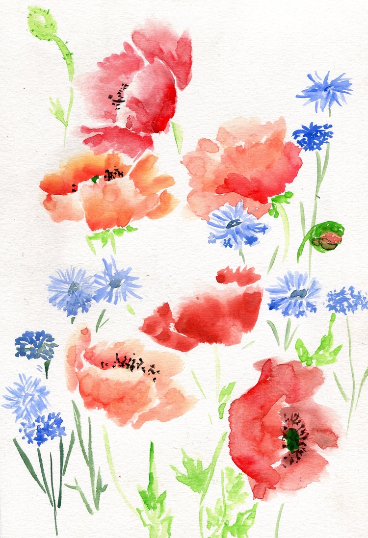 Red Orange Poppies Bachelor But - havekat | ello