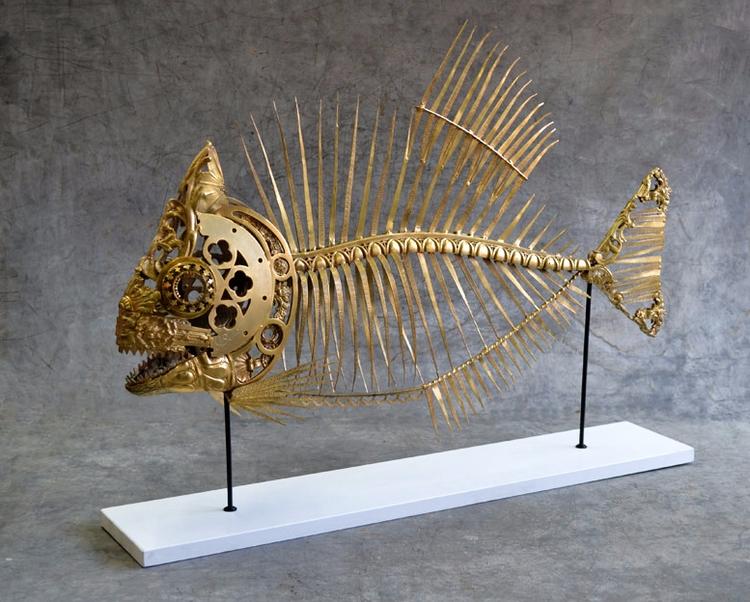 Piranha , 2012 62cm long - art, sculpture - alain-bellino | ello