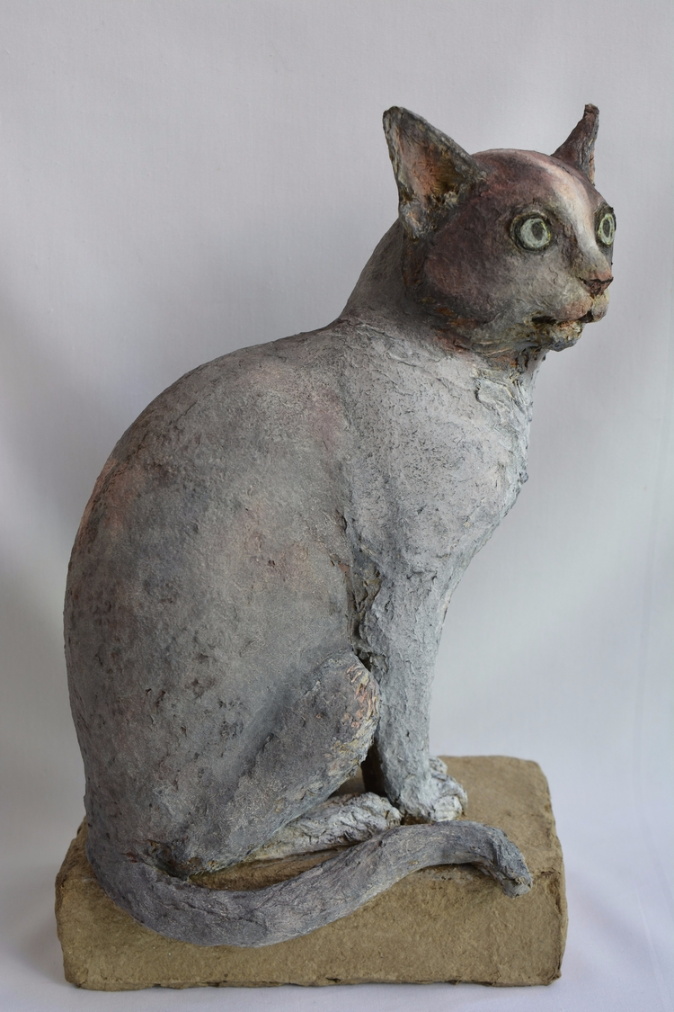 '' LE CHAT , SOLID RECYCLED CAR - barakesculptor | ello