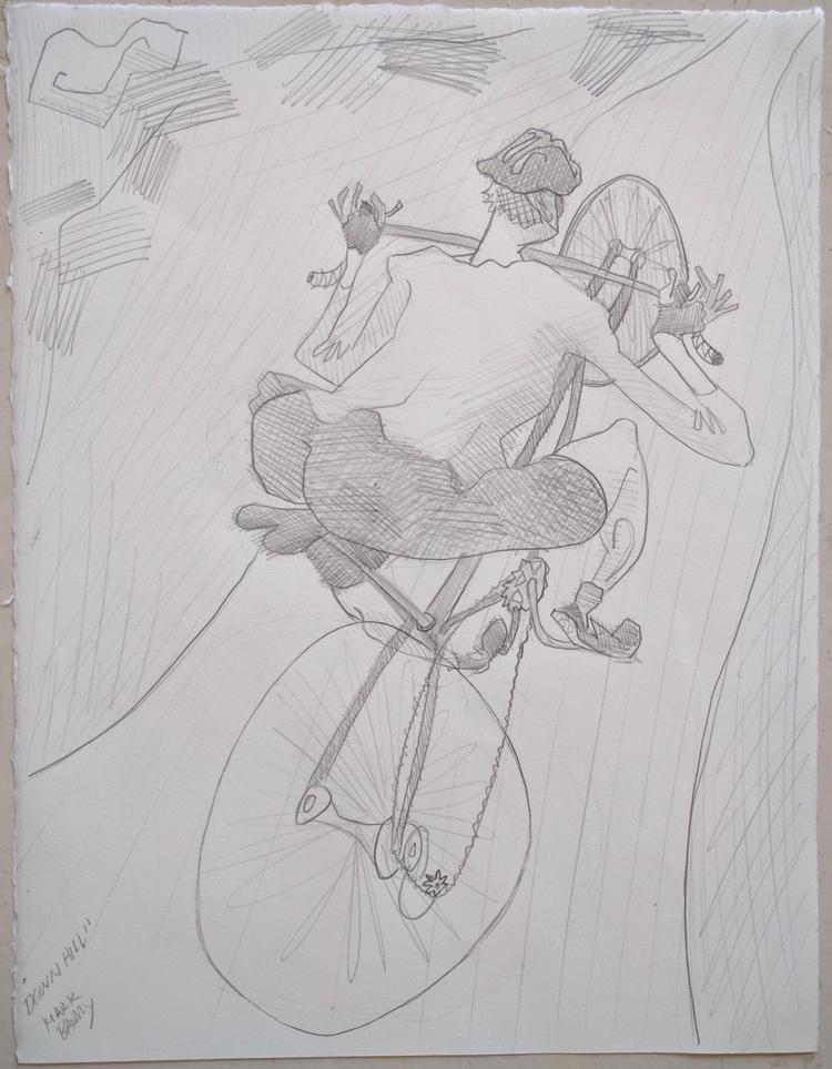 Downhill graphite paper, 15x11 - markbarry | ello