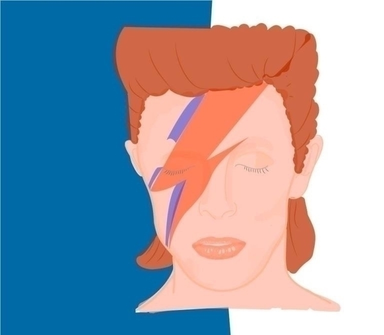 ziggystardust, illustration, bowie - sarahaugen | ello