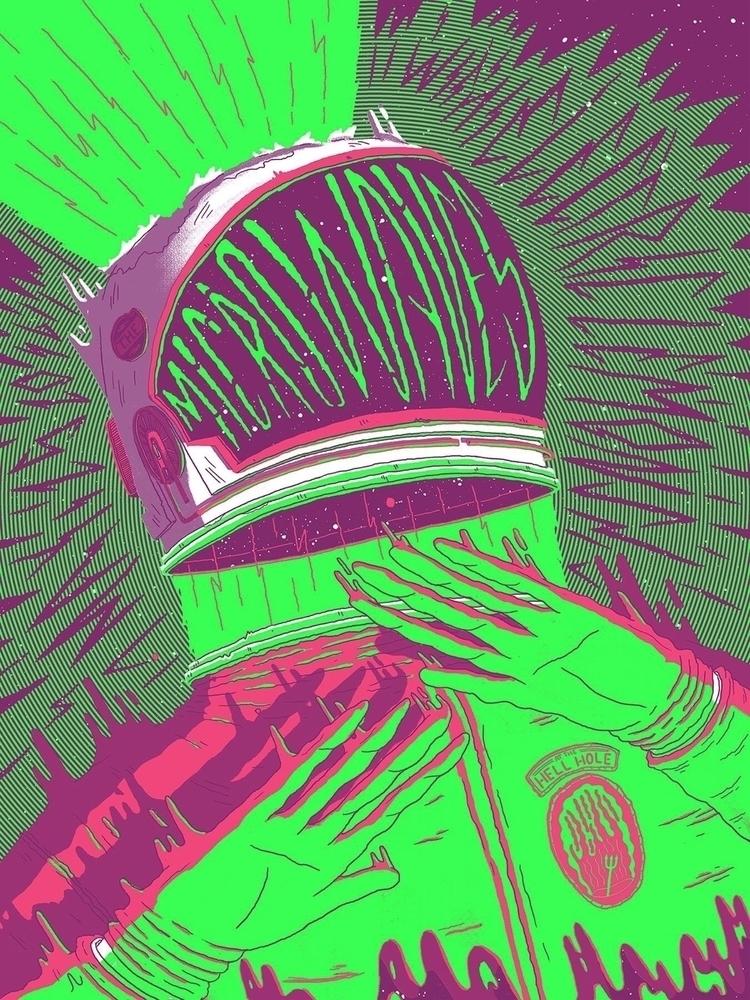 Microwaves - illustration, gigposter - jefflowryillo | ello