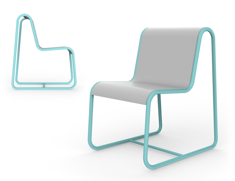 Form color variation Tube Chair - jamesowendesign | ello