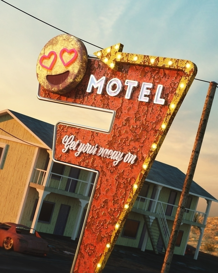 Enjoy stay Love Motel  - cinema4d - andreasjd | ello