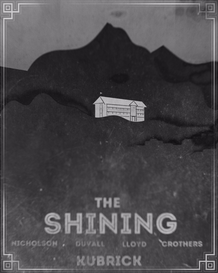 Shining - poster, design, variant - pinheiro   ello