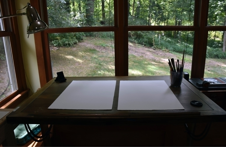 drafting table - artistlife, artwork - alexakarabin | ello