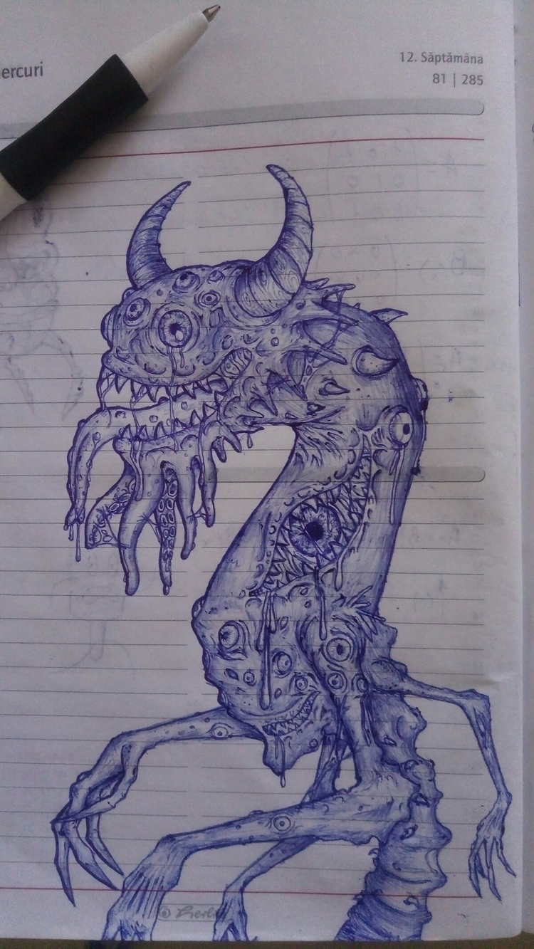 pencil spacemonster - monster, space - darkgoath13 | ello