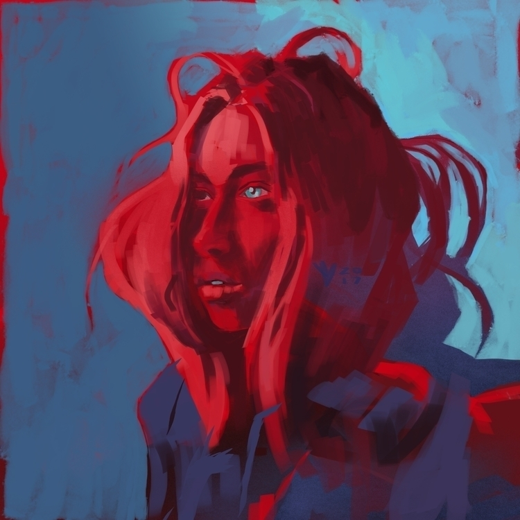 Red - digitalart, speedpaint, portrait - evandileo | ello