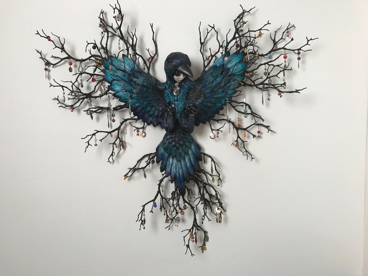 Shiny surrealism - magpie, pop, hybrid - christinekharris | ello
