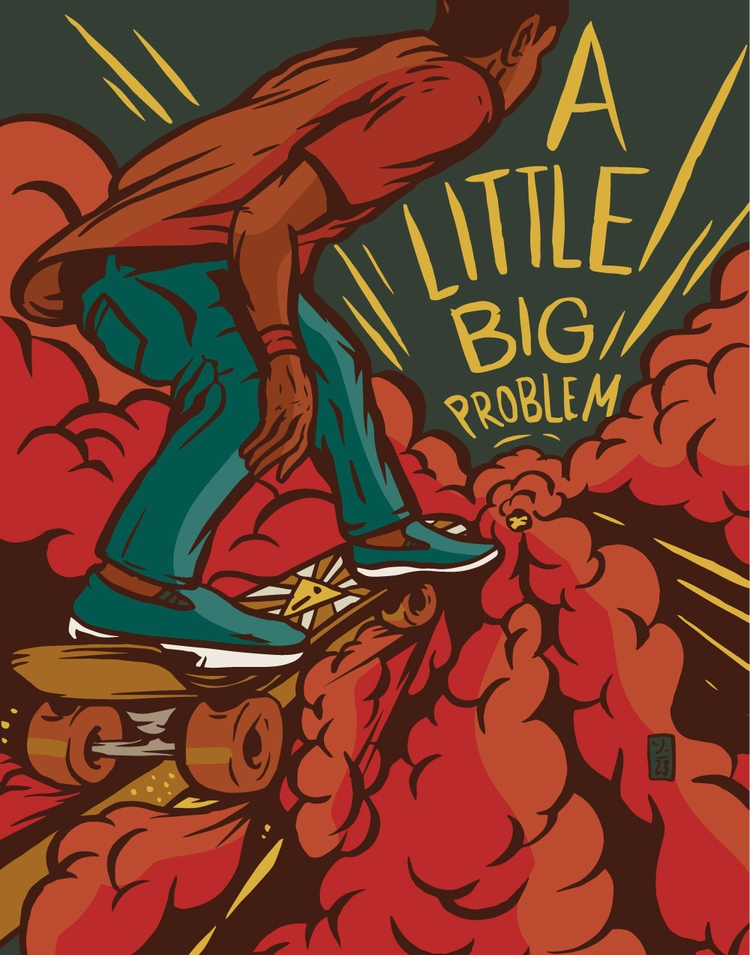 Big Problem (watch pebbles - illustration - thomcat23   ello