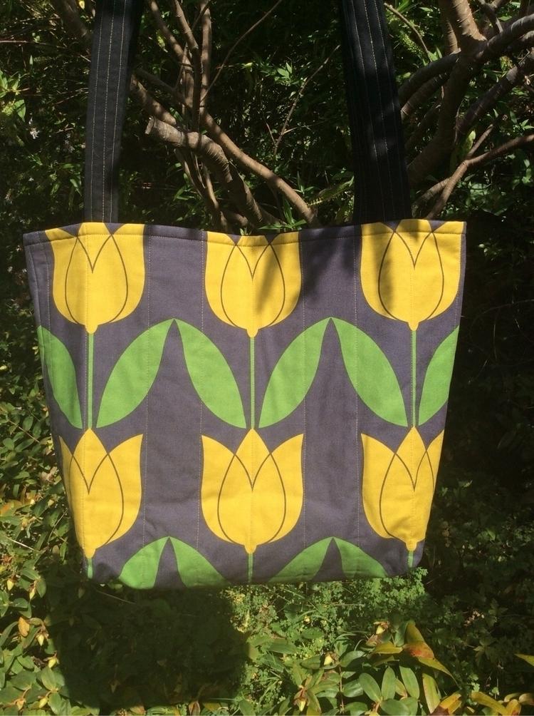 Gorgeous tulip tote bag - tulips - dorsetpatchworks | ello