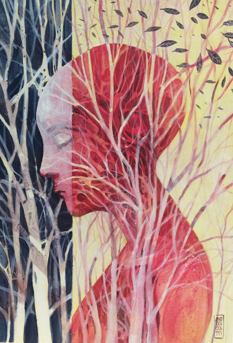 Roots acrylics board Submitted  - andreuccettiart | ello