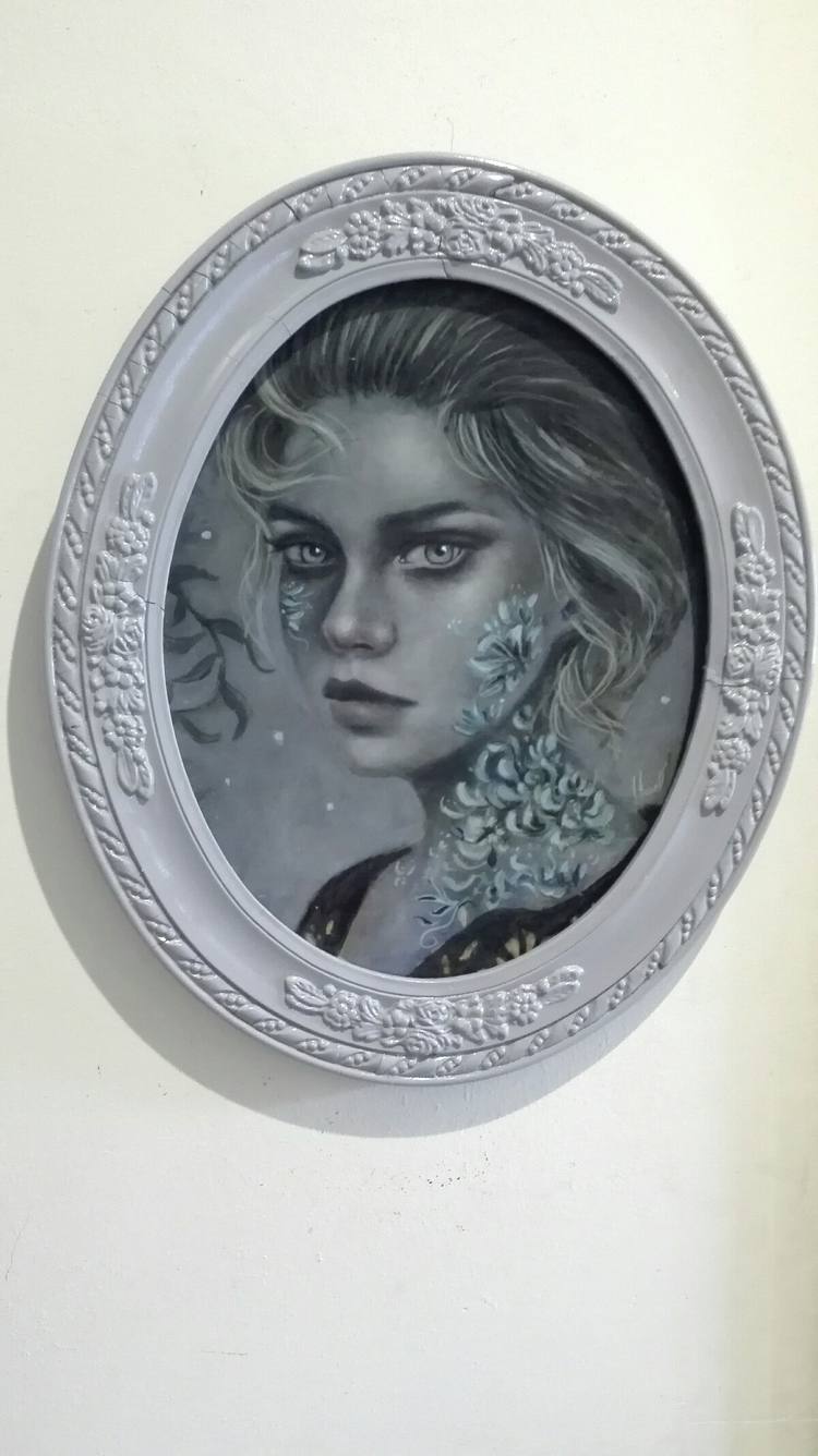Melancolia oil canvas mounted - oilpainting - ingridtusell | ello