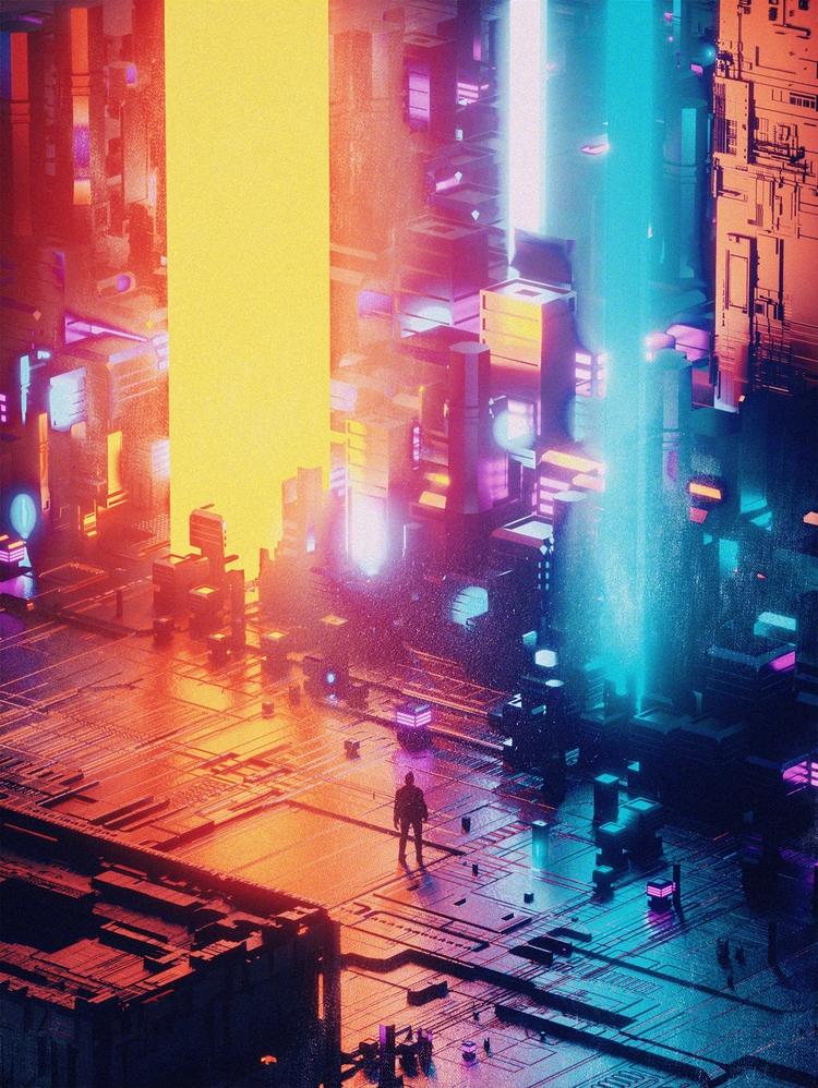 Inspired Dusk digital artist Mo - elloblog | ello