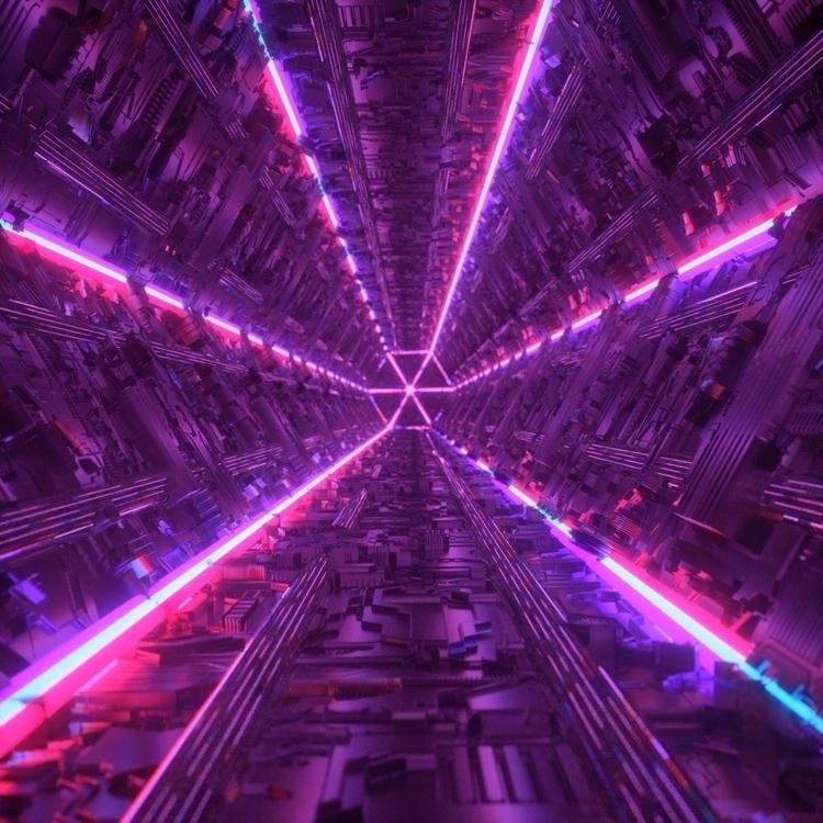tunnel render - digitalart, abstract - nickjaykdesign   ello