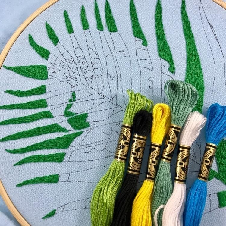 skein hand embroidery pattern i - sewnbythebeach | ello