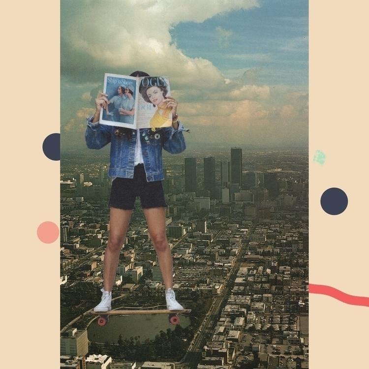 Summer city girls. Collage phot - zachmoldof | ello