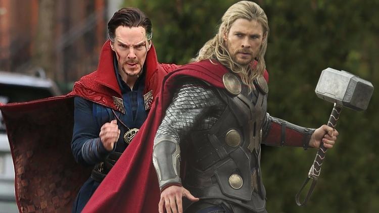 Doctor Strange advises Thor Rag - bonniegrrl | ello
