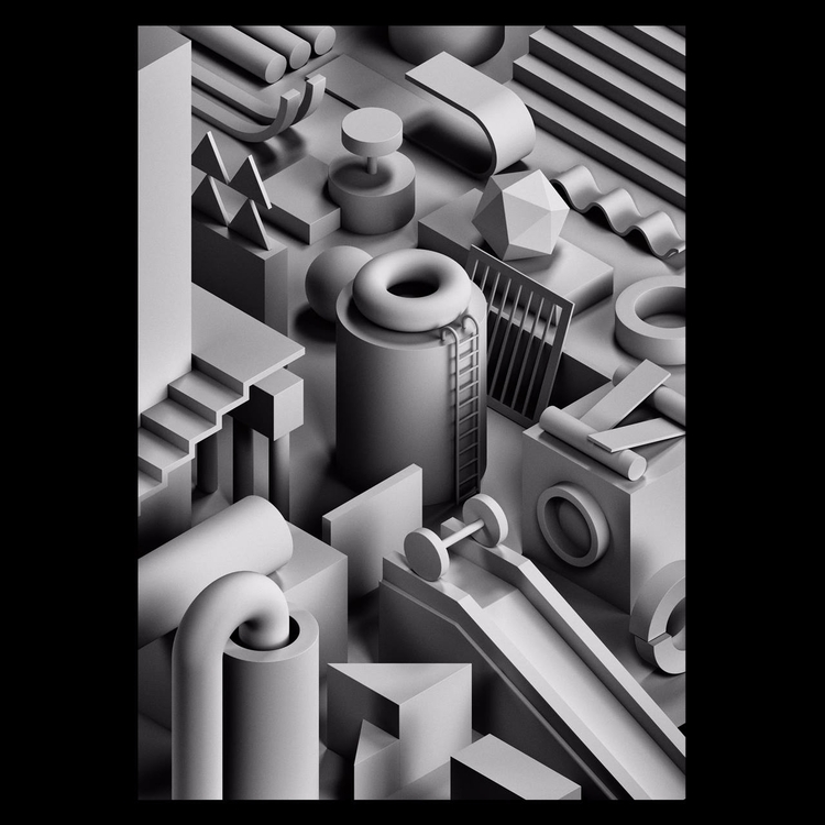 Noir III - 3d, illustration, isometric - serafimmendes | ello