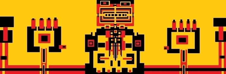 art, abstract, red, black, yellow - dannyami | ello