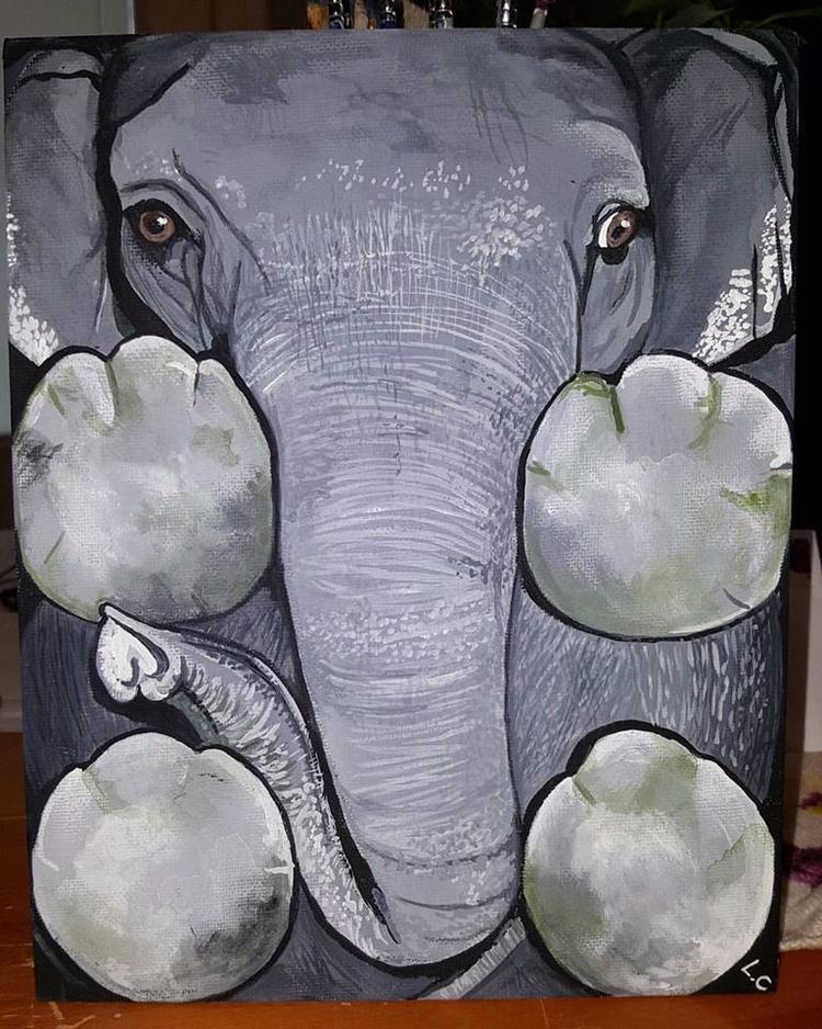 Elephant forgets - society6, art - lizzywhothefunkc | ello