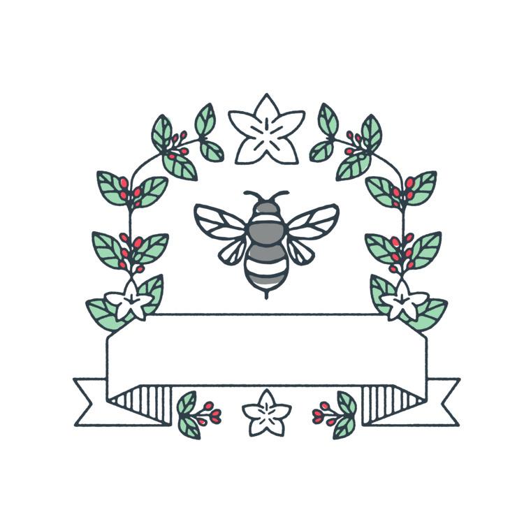 Cherries Mono Line - Bumblebee, Coffee - patrimonio | ello