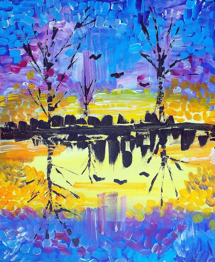Reflection - Abstract piece cre - corrinaholyoake | ello