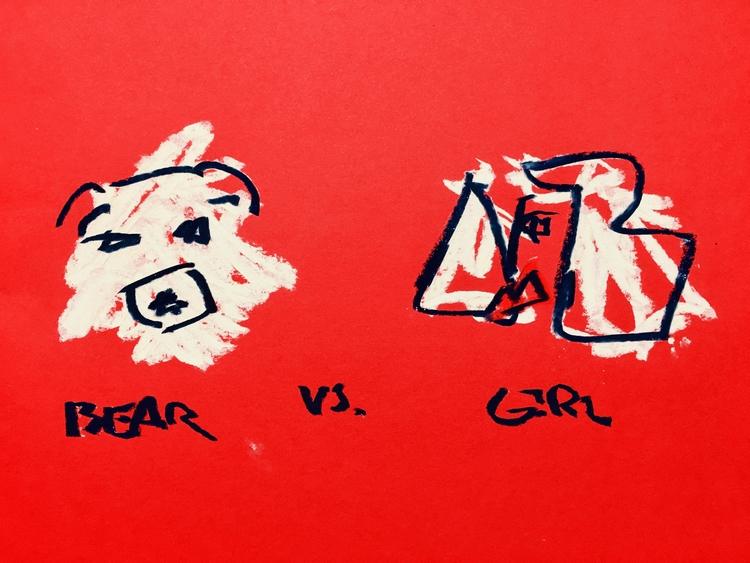 BEAR GIRL, III - art, drawing, illustration - jkalamarz | ello