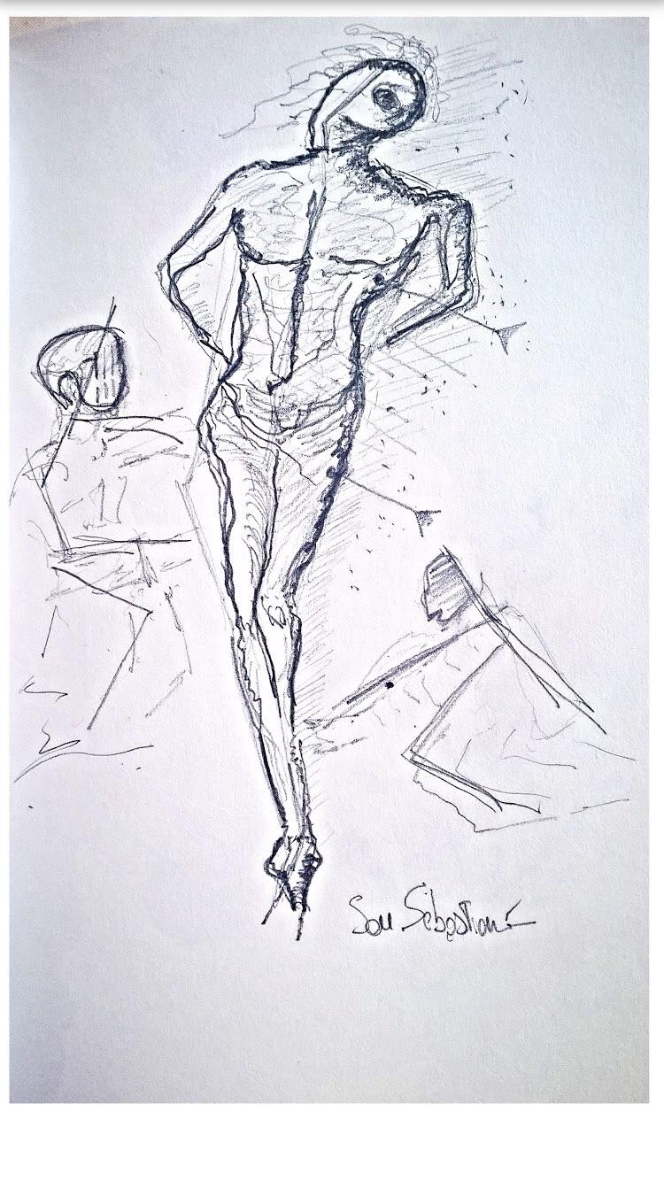( Dalì, San Sebastiano )pencil  - mat8 | ello
