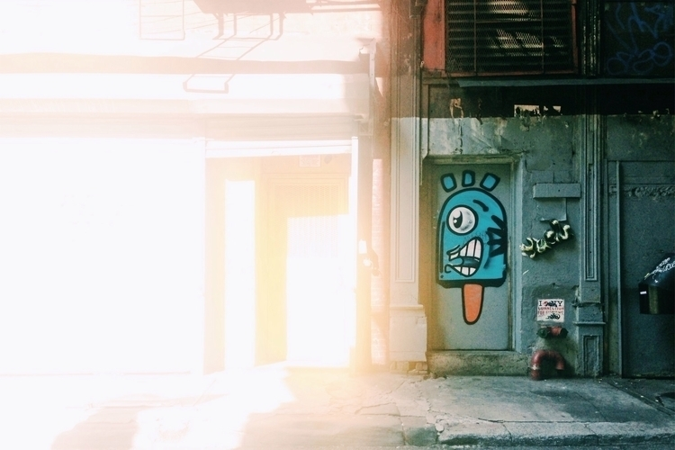 walking job SOHO graffiti hidin - keeleyy | ello