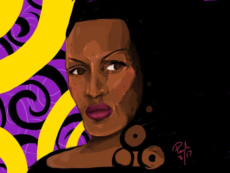 Grace Jones drawing - iPad, design - dcartist | ello