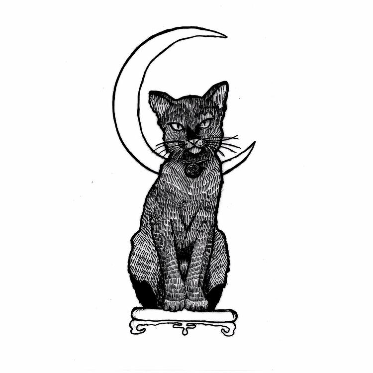 Cat moon - cattattoo, ink, tattoos - rotserp | ello